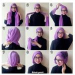 Contoh Model Gaya Hijab Terbaru Simple dan Gambar Tutorialnya
