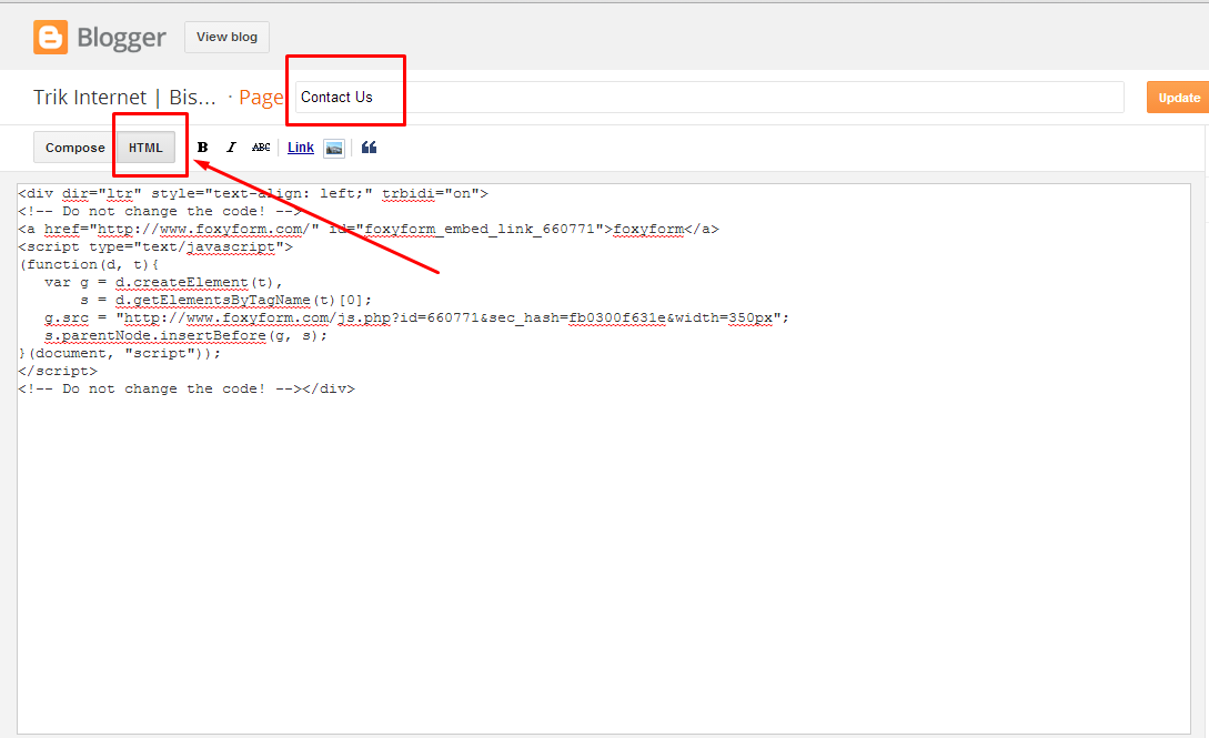 Cara Membuat Contact Form Pada Blogspot - Klik Enter