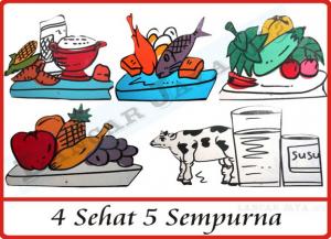 makanan 4 empat sehat 5 lima sempurna