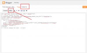 Cara membuat contact form pada blogspot