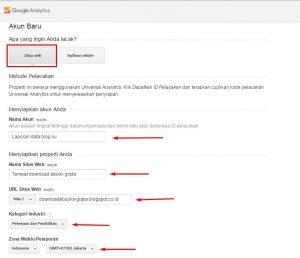 Cara mendaftar google analytics 2